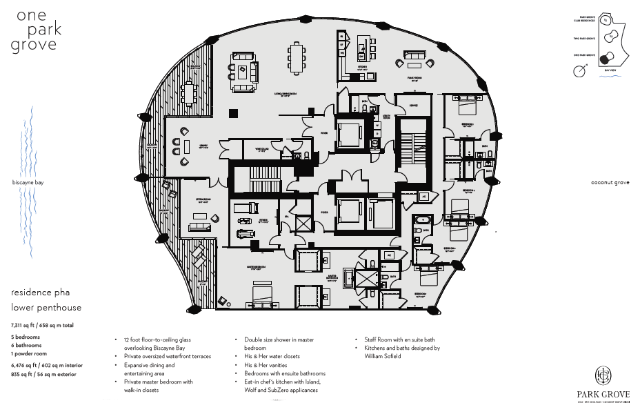 Click to view Floor Plan for Lower Penthouse A
