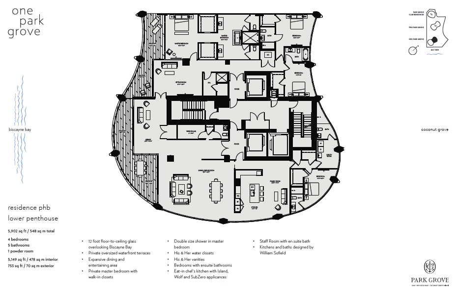 Click to view Floor Plan for Lower Penthouse B