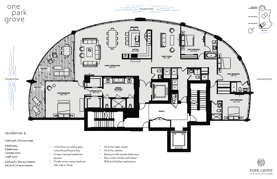 Click to view Floor Plan for Residence A